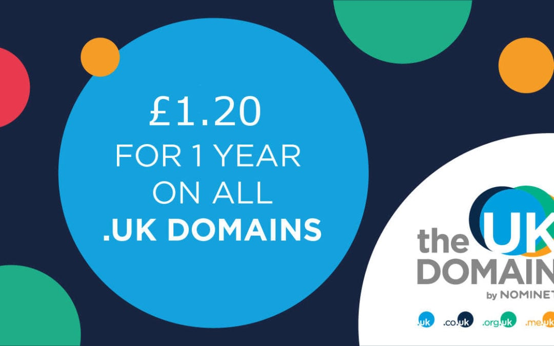 .uk Domains only £1.20 for the month of April